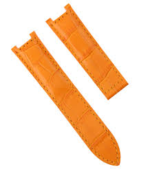 details about leather watch band strap for pasha de cartier watch 1032 1033 2113 20mm orange