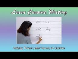 writing 3 letter words in cursive
