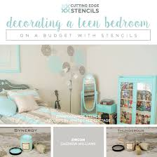 Budget Stencils Decorating A Teen Bedroom On A Budget With Stencils