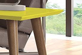 amazon manhattan fort utopia collection mid century modern low rectangle accent living room end table with spla legs yellow kitchen dining