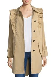 joie ruffle trench coat