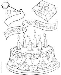 Coloring Cakes Coloring Pages Birthday Cake Printable Page Free