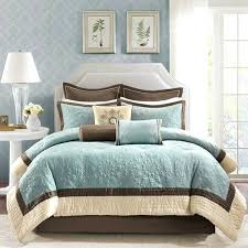 teal and brown comforter queen bed furniture with white headboard and teal brown bedding and pillows
