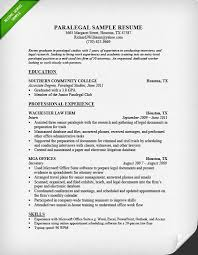 resume example for paralegal interview resume sample