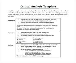 Book Analysis Template 10 Critical Analysis Templates To Download Sample Templates