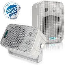 pyle pdwr40 indoor outdoor waterproof wall mount speakers