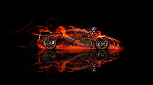 mclaren p1 side fire abstract car