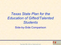 texas state plan for the education of gifted talented students