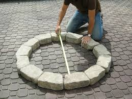 build ideas building a fire pit with pavers round shape brick