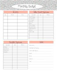 Sample Monthly Household Budget Free Monthly Household Budget Template Ipcco Proposal Review