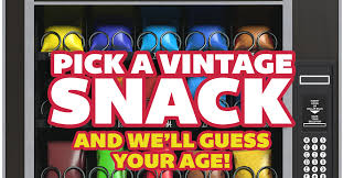 Vintage U Select It Vending Machines Simple Pick A Vintage Snack From This Vending Machine And We'll Guess Your Age