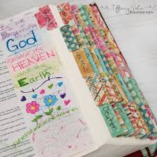 I Made Custom Tabs With Scrapbooking Paper For My Journaling Bible