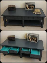 Coffee Table Painting Rustic Chic Charcoal Grey Painted Coffee Table By Furniture