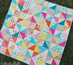 132 best Project Linus images on Pinterest | Baby afghans, Cot ... & Scrappy Happy Baby Quilt - made with half square triangles. Great pattern  for Project Linus Adamdwight.com