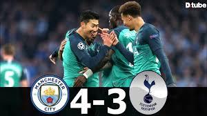 Wed 17 apr 2019, 22:00. Manchester City Vs Tottenham 4 3 Goals Highlights Ucl 2019 Quarter Final Resumen Steemit