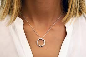 white gold eternity diamond pendant