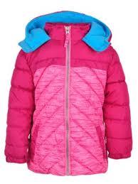 Product Image Pink Platinum Colorblock Hooded Active Puffer Jacket (Little Girls \u0026 Big Girls) Coats Jackets - Walmart.com