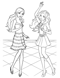 Coloring Pages Free Barbieng Book Pages Printablebarbie