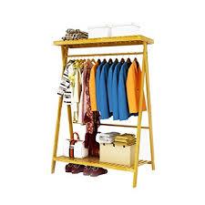 How High To Hang A Coat Rack Beauteous Amazon Hanger Floor Modern Simple Solid Wood Bamboo Coat Racks