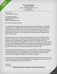 Cover Letter Receptionist Sample Front Desk Famous Prefabrikk Com