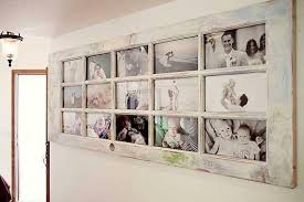 old door made into photo frame