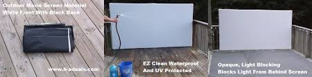 The goal here was to find a lower cost screen material for a DIY  (do-it-yourself) outdoor screen. It also had to be waterproof, UV  protected, light blocking ...