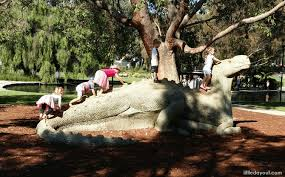 dinosaur statues at synergy parkland kings park perth