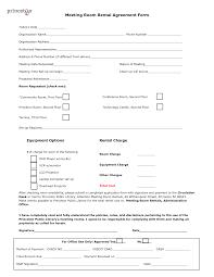 Room Rental Contract Print Room Rental Agreement Form Sample