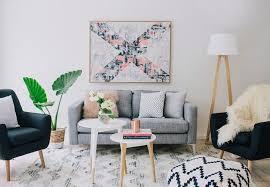 modern scandinavian living room white wood bar stools dark wood bedroom set white carpet flooring