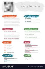 Professional Design Resume Professional Resume Cv With Design Color Brush