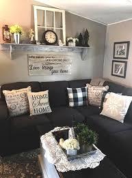 rustic farmhouse living room decor idea