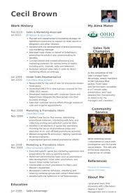 Sales & Marketing Associate Resume samples
