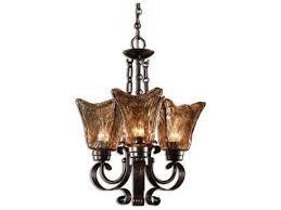 uttermost vetraio oil rubbed bronze three light 16 wide mini chandelier