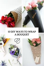 10 diy ways to wrap a bouquet cover