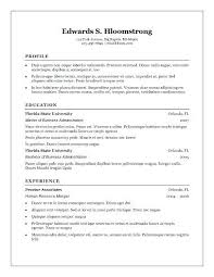 Free Resume Templates Word Traditional Resume Template Free