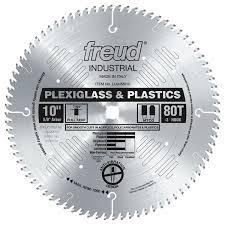 freud lu94m010 10 inch 80t mtcg plexiglass plastic blade 5 8 inch