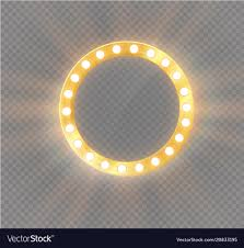 make up mirror lighting. Makeup Mirror Isolated With Gold Lights Vector Image Make Up Lighting