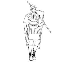 Roman Soldier Coloring Page Coloringcrewcom