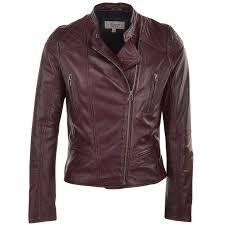 leather biker jacket bordeaux kasmira