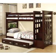 bunk beds with trundle and stairs fabulous bunk bed with trundle espresso wood twin bunk bed