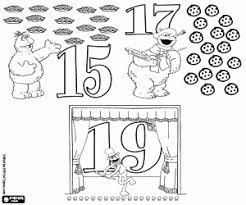 Small Picture Sesame Street Numbers coloring pages printable games