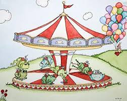Mouse Fair: Leap Frog Carousel – Action Artwork Rental