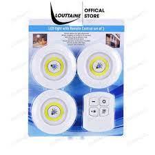 Đèn LED dán tường Bộ 3 bóng đèn kèm điều khiển có điều khiển từ xa hẹn giờ  điều chỉnh mức sáng tiện lợI tại Hà Nội