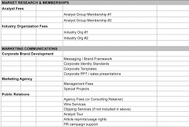 Marketing Budget Template For Small Business Plan Excel Spreadsheet ...