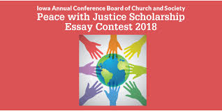 iowa conference peace justice scholarship essay contest