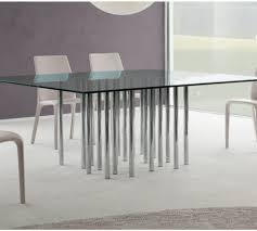 bonaldo mille glass table square or rectangular