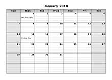 yearly printable calendar 2018 calendar 2018