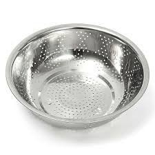 vegetable washing colander stainless steel mesh colander three sizes over sink premier fruit wash bowl houseware