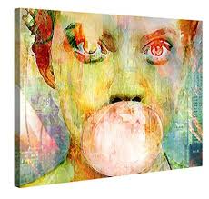 large canvas print wall art bubblegum girl 40x30 inch abstract canvas picture stretched on on large canvas wall art amazon with amazon large canvas print wall art bubblegum girl 40x30