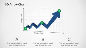 Arrow Chart 3d Arrow Progress Diagram Template For Powerpoint